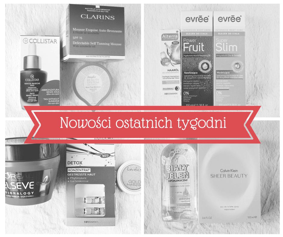 Kosmetyczne nowości ostatnich tygodni - Clarins, Collistar, Alterra, Evree i inne