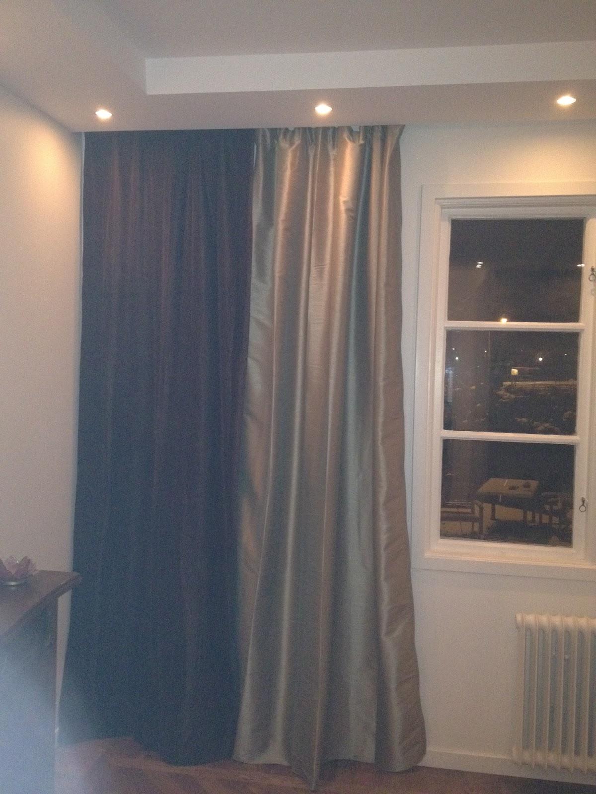 Hus inspiration inredning: gardiner från taket