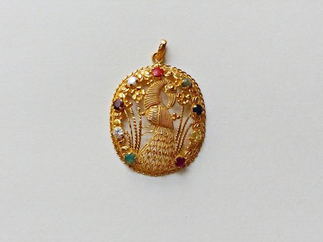 Navaratna peacock pendant, Nepal