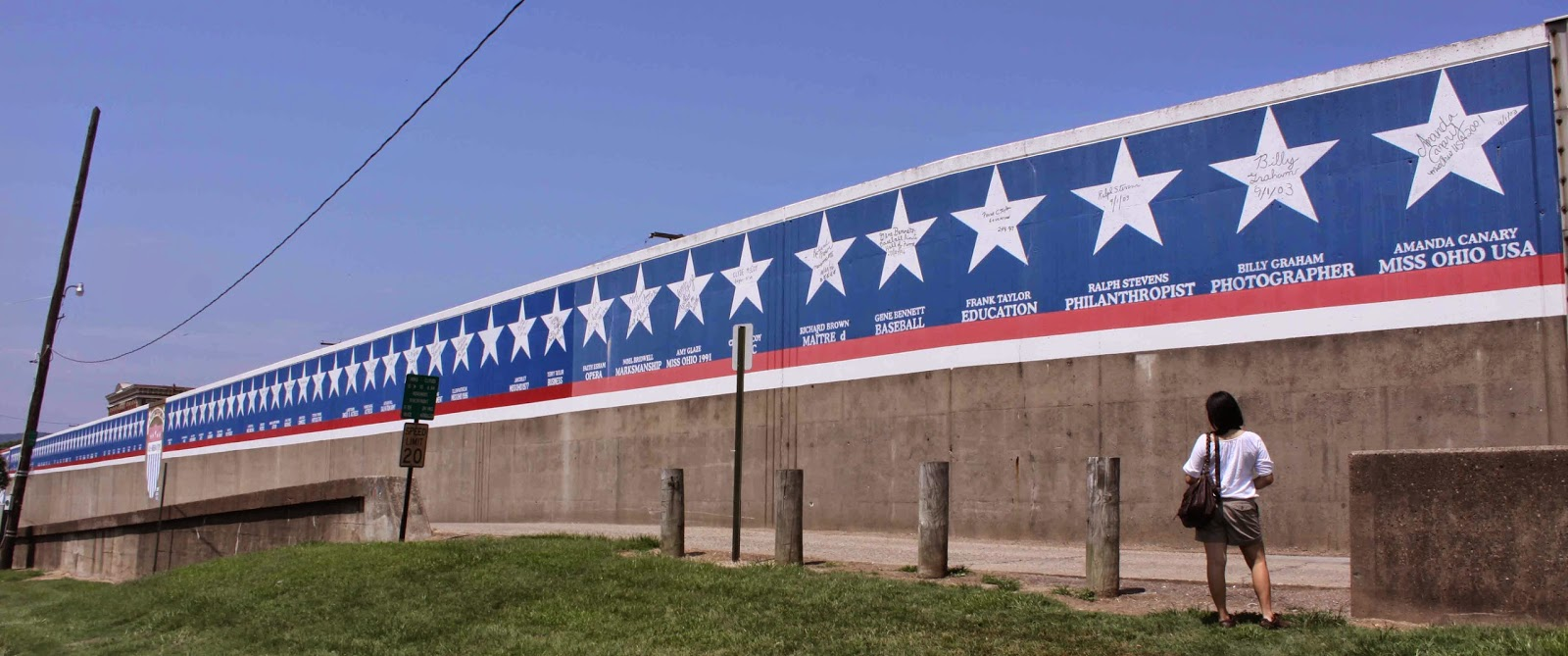 The River Side Of The Portsmouth Floodwall Features Local Stars. Photo  Credit: Trudy E. Bell, 2010 Part 47