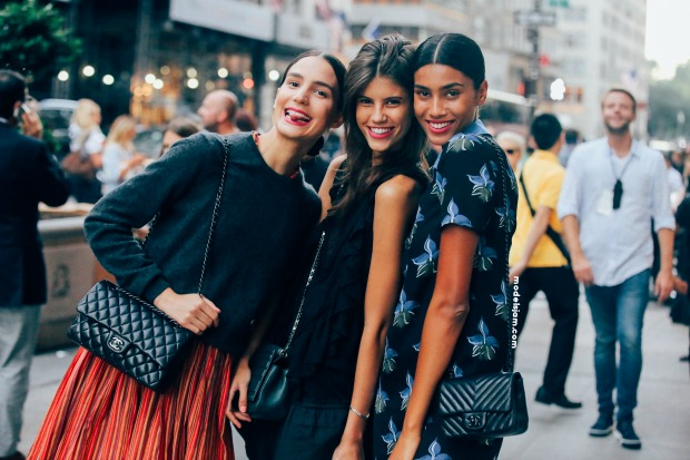 Mijo, Antonina and Imaan in New York