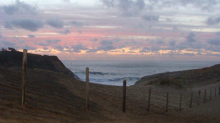 oregon, oregon coast, sunset, fence, october 2010