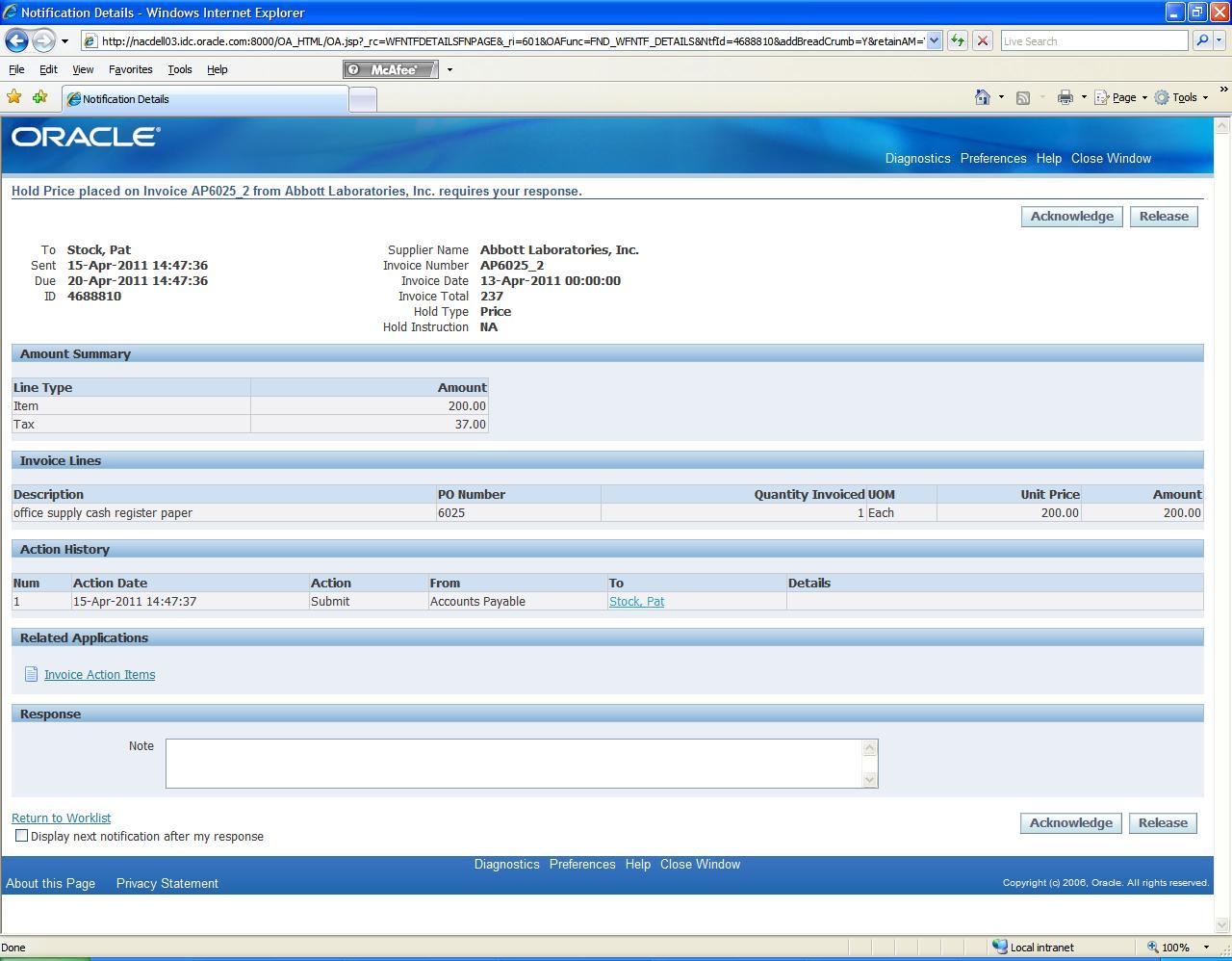 Krishanu Bose Oracle FAQ - Oracle ocr invoice