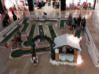 Photo of the Mini Golf course at the Queensgate Shopping Centre in Peterborough for Christmas 2013. Photo by Mini Golf and Games