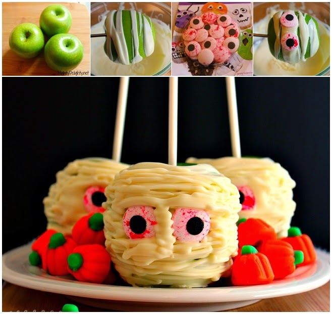 DIY Mummy Candy Apples