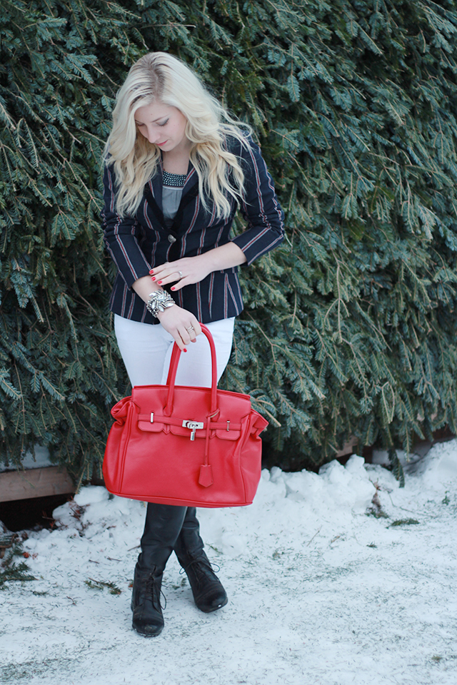 How to wear riding boots - inspiration from a Canadian style blogger.