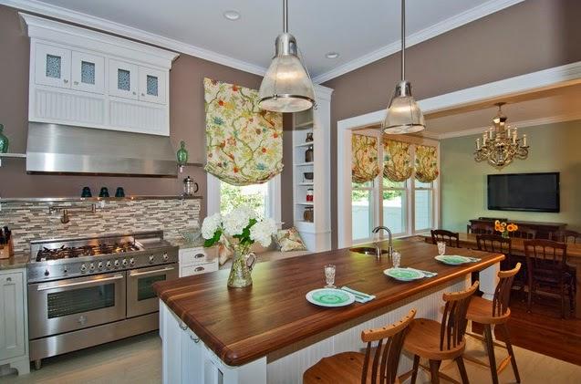 Rideaux de cuisine rideaux et voilages - Rideau pour meuble de cuisine ...