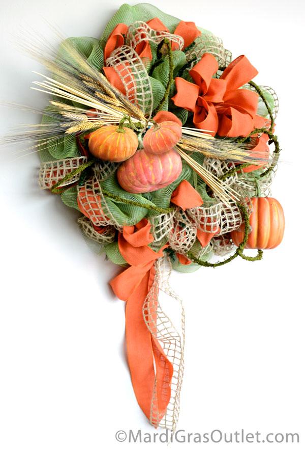 Fall Deco Mesh, Fall Wreath, DIY, Video Tutorial, Harvest, Autumn Craft, Poly Deco Mesh
