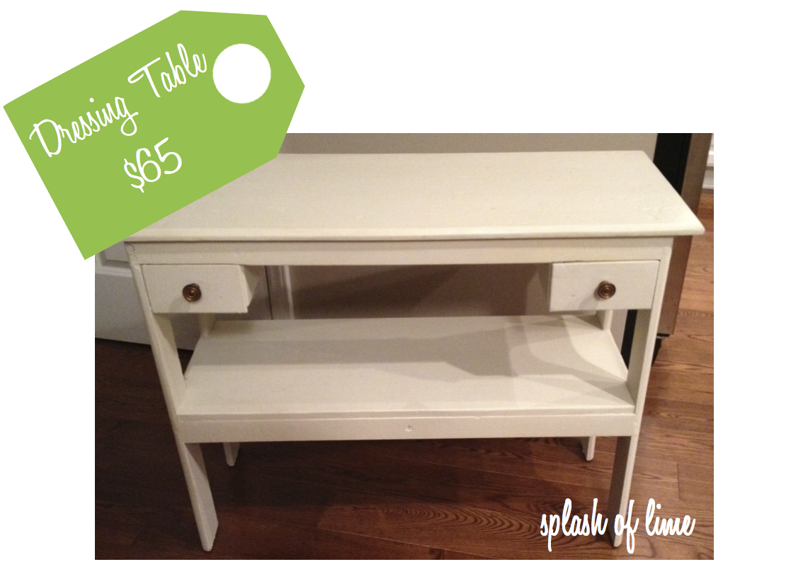 High/low: Dressing Table