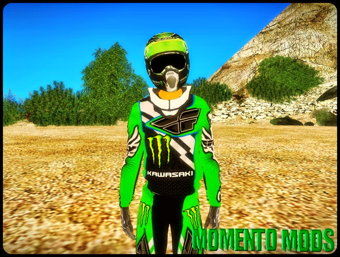 GTA SA - Pacote De Monster Energy Skin + Moto + Quadriciclo