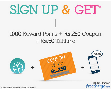 Lenskart : Signup and get 1000 Reward points + Rs 250 Coupon + Rs 50 TalkTime