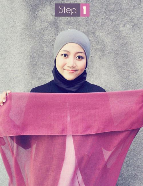 Cara Mudah Memakai Jilbab Segi Empat Plus Foto Gambar hardika com