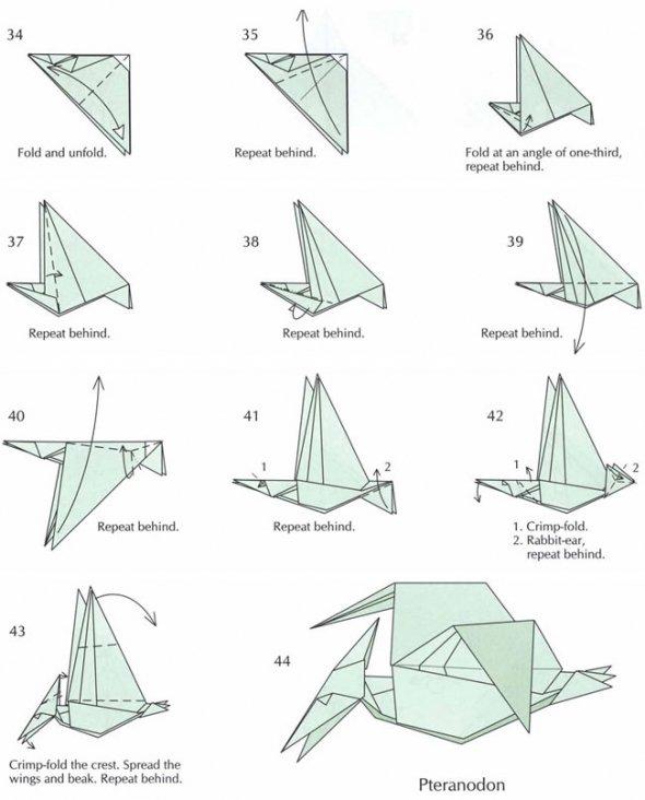 reptossaurus origamis de dinossauros origami dinosaur skeleton diagrams origami dinosaur diagrams