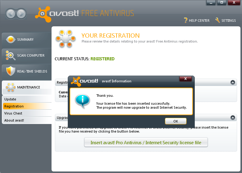Free Avast 5 License File Download