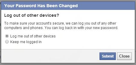 طريقة تسجل خروج من حساب فيس بوك مفتوح على جهاز آخر