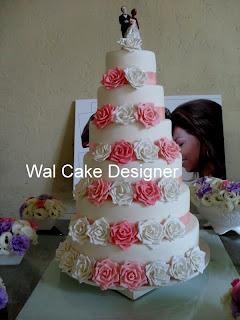 rose cake mariage