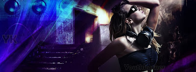 Hot girl FB Cover in Darknes