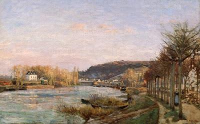 Camille Pissaro - La seine à Bougival, 1870
