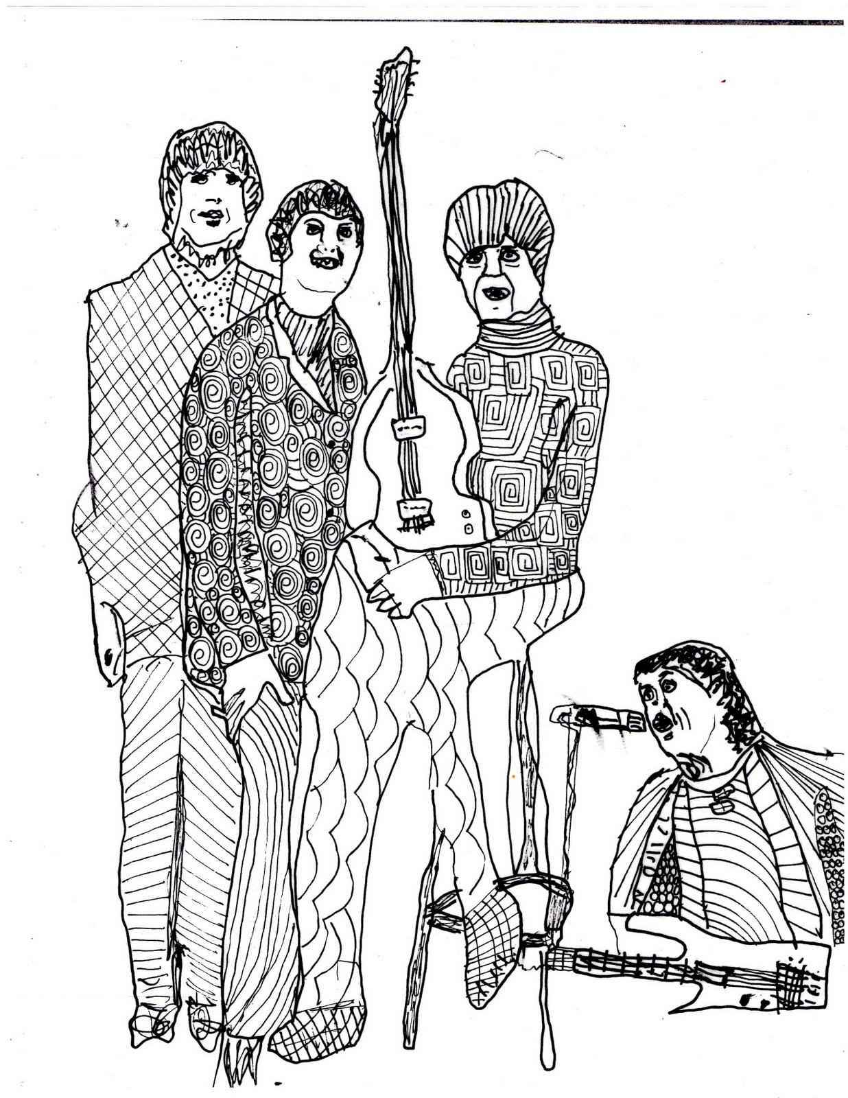 Gunk tv records bealtes coloring book 2nd edition for Beatles coloring book pages