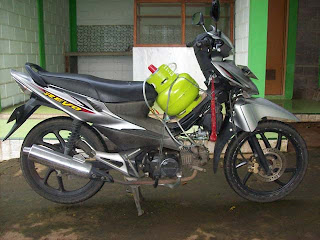 Gambar 1. Sepeda Motor dengan Konverter Kit LPG