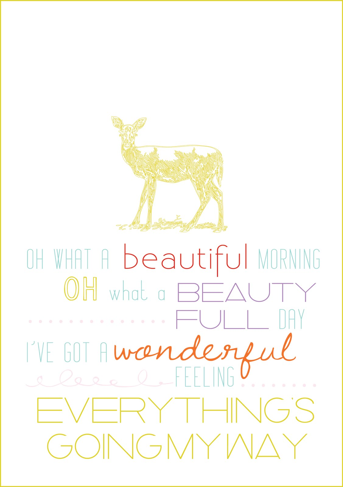 sissyprint: Quotable Monday  Oh what a beautiful morning!