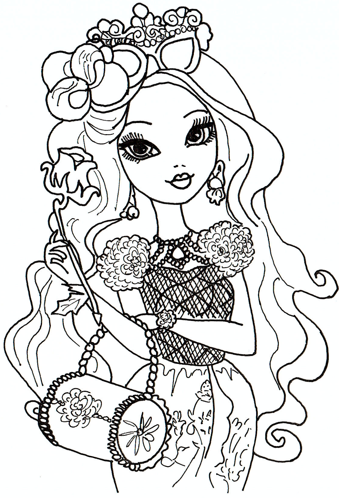 Free Printable Ever After High Coloring Pages June 2013