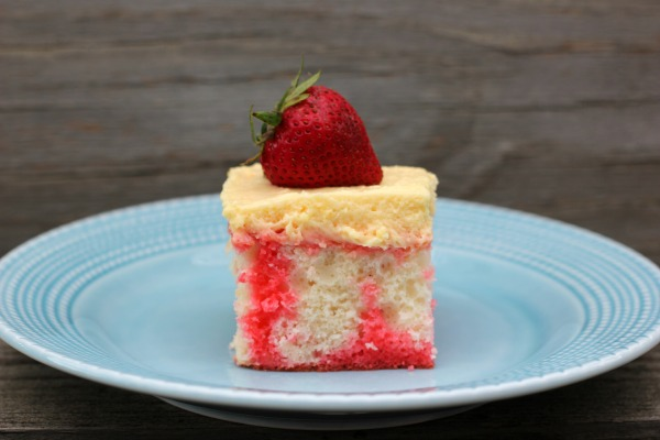 Strawberry Jell-O Poke Cake by Me and My Pink Mixer