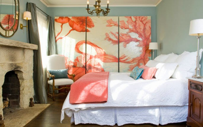 Best Paintings in the interior of a bedroom - 30 examples