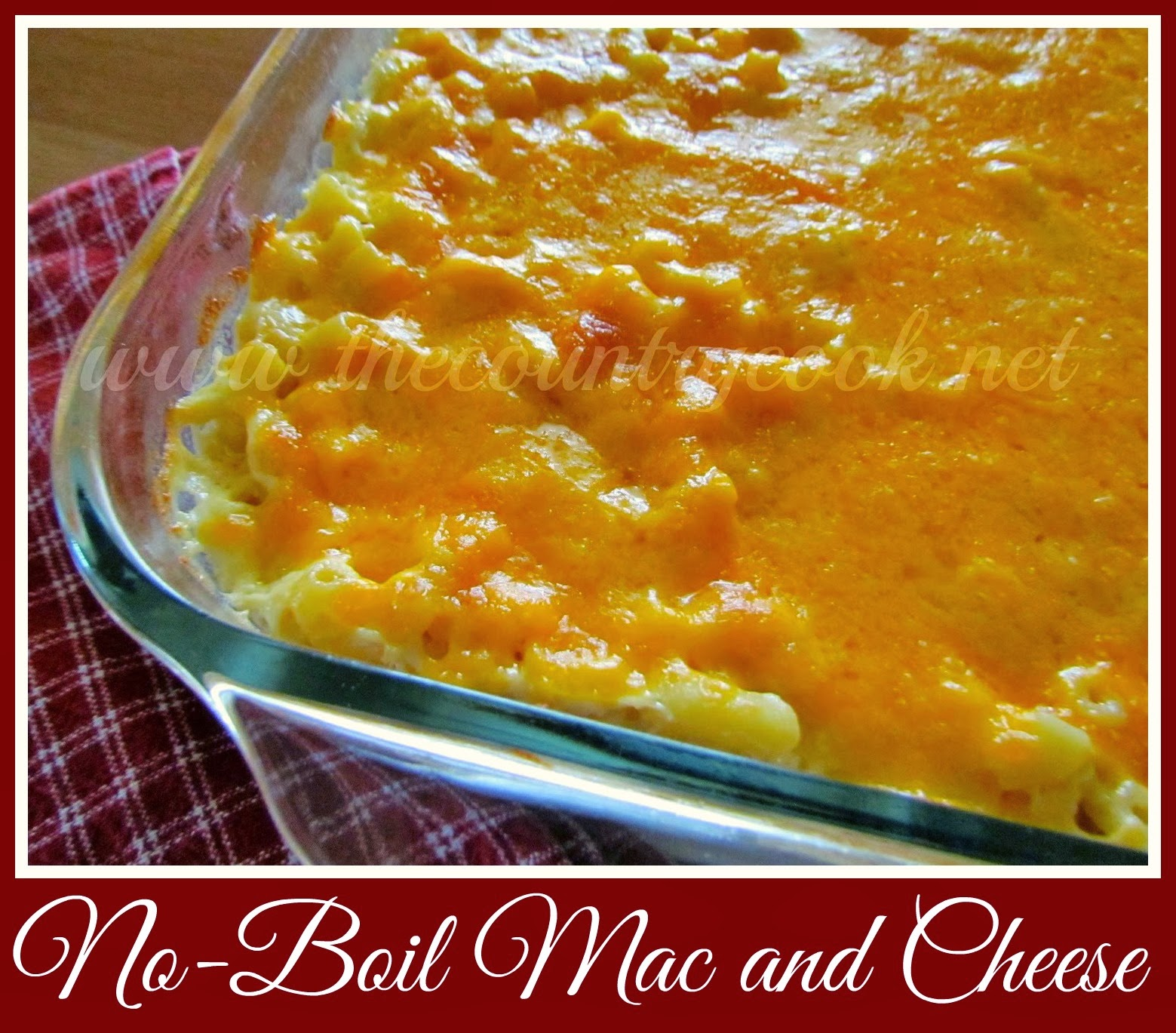 Homemade No-Boil Mac and Cheese