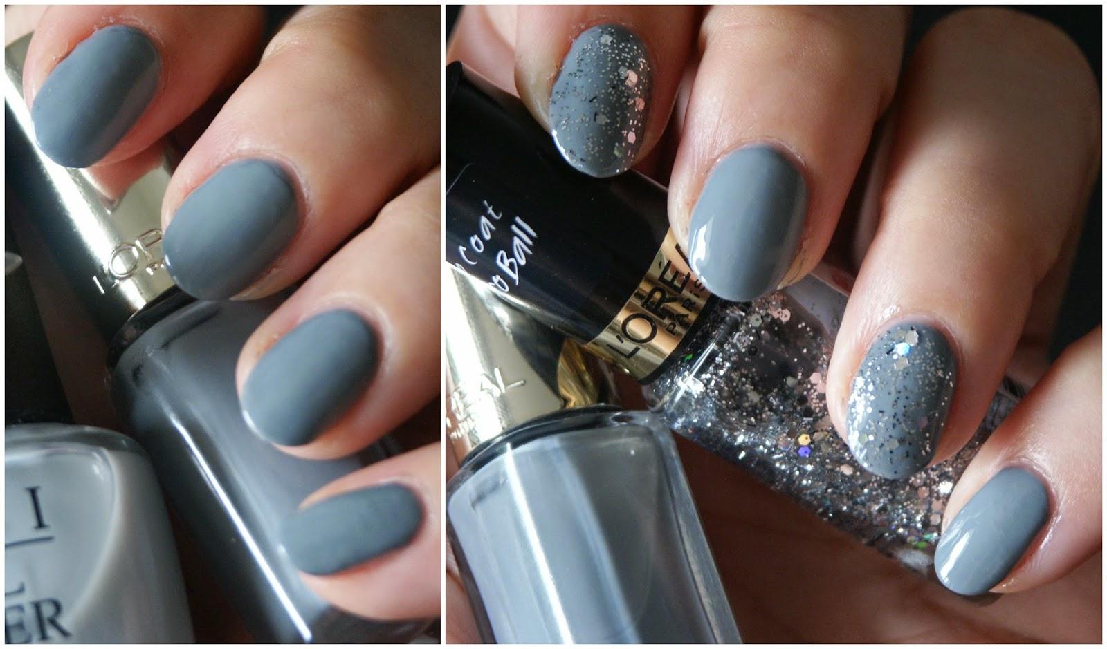 Classy Gray Nails