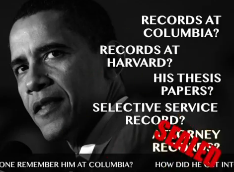 why are obama s documents sealed