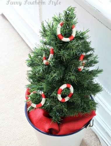 nautical mini Christmas tree