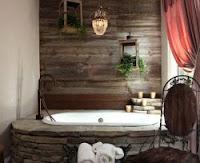 piedra paredes baño