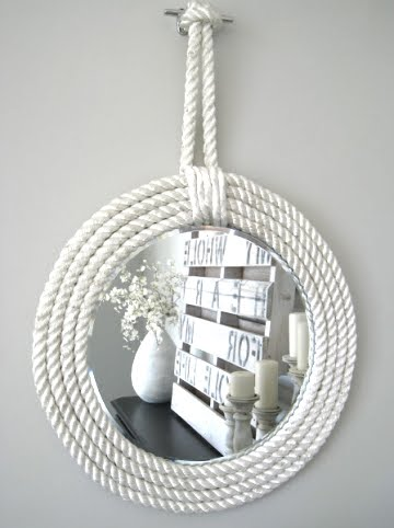 diy rope mirrors