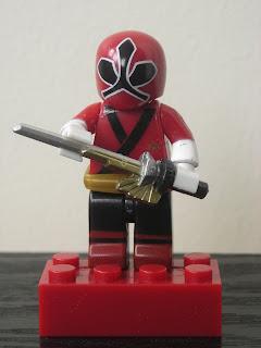 Power Rangers Super Samurai Mega Bloks Metallic Red Ranger 04
