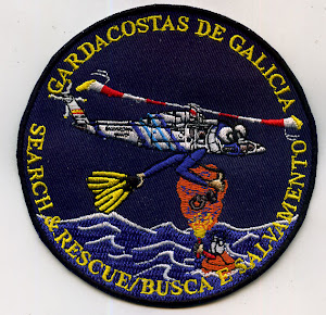 Patch Galician Coast guard in fabric made.