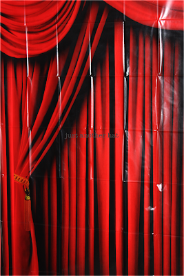 red curtain backdrop banner for photo booth
