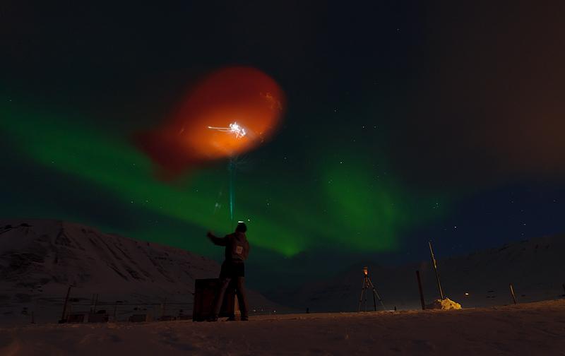 aerostaadiga sondeerimine, tethersonde soundings, virmalised, aurora borealis