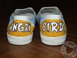 Homemade Angry Bird Shoes