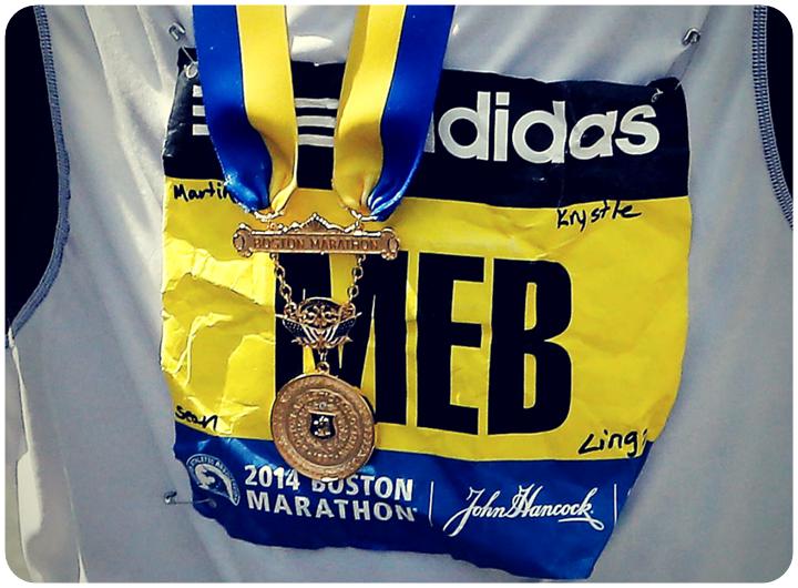 BIB ของ MEB ในบอสตันมาราธอน 2014