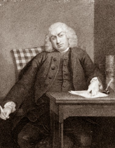 Samuel Johnson,  from The Life of Samuel Johnson by James Boswell (1791)