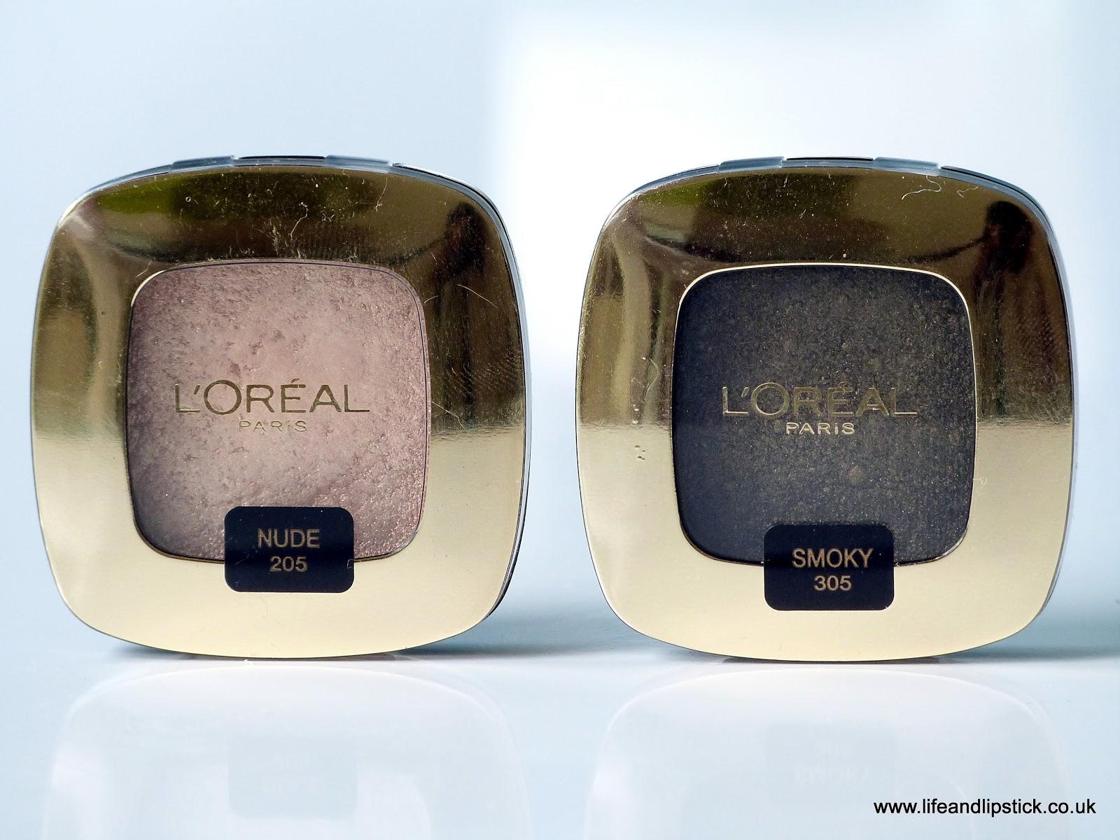 L'Oreal Paris Color Riche Mono Eyeshadow in Nude and Smoky