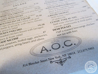 image of AOC - L'Aile Ou la Cuisse in NYC, New York