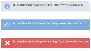 Merubah Tampilan Block Quote