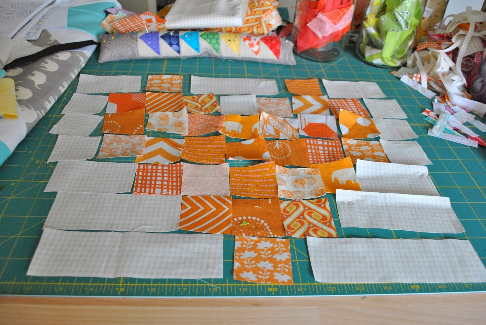 messy cutting table #honestcraftroom
