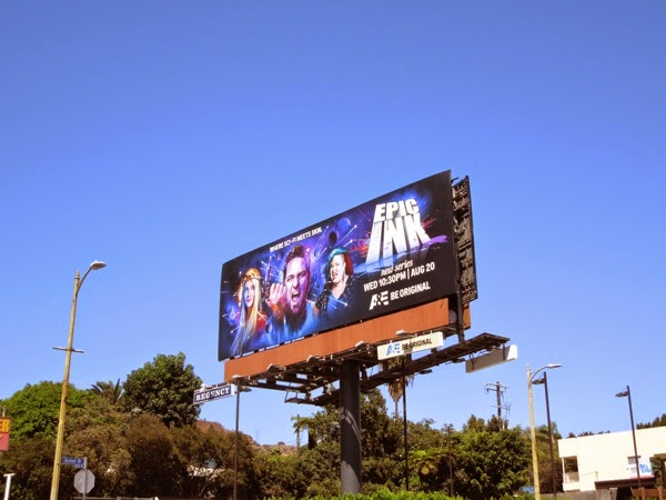 Epic Ink series launch billboard