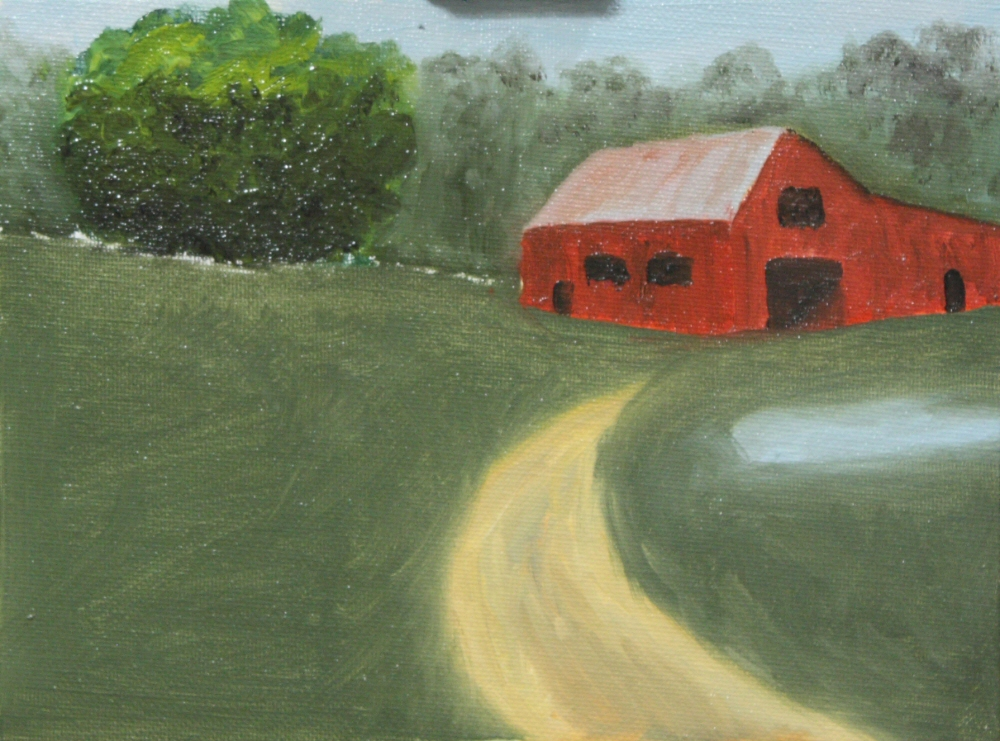 30-in-30 Challenge - Google Barns 14b 6x8 oil on canvas panel - TheDailyPainter.jpg