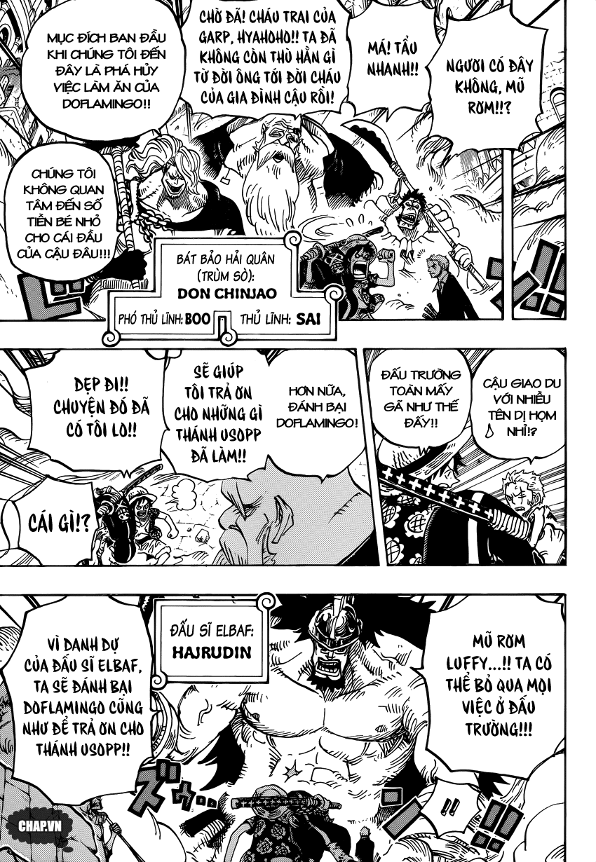 One Piece Chapter 748: Báo ơn 008