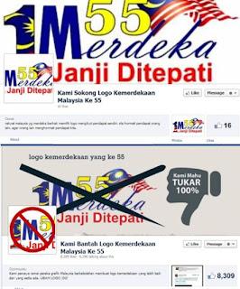 Logo Kemerdekaan kontroversi