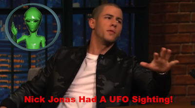 "Nick Jonas ""I Have Seen Flying Saucers"" UFO Sightings"